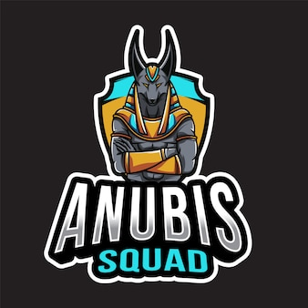 Plantilla de logotipo de anubis squad