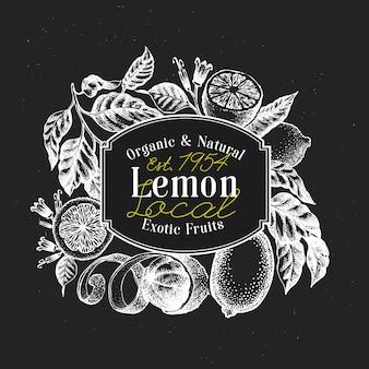 Plantilla de logotipo de árbol de limón.