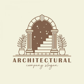 Plantilla de logotipo de arco antiguo.