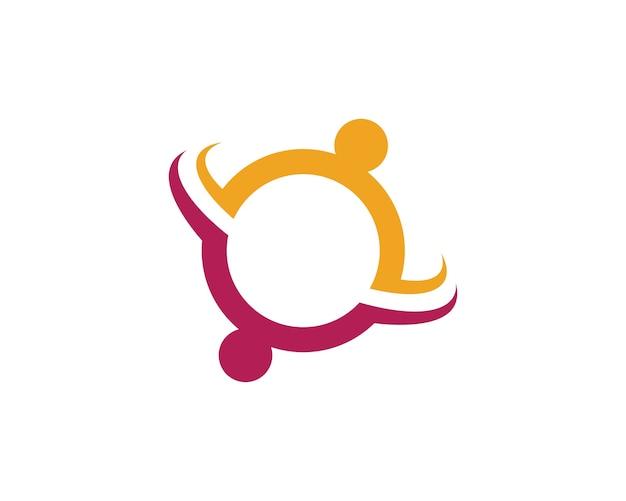 Plantilla de logotipo de atención comunitaria