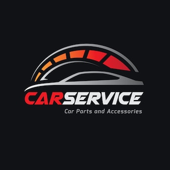 Plantilla de logotipo de automóviles y servicios de automóviles.