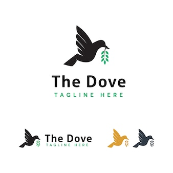 Plantilla de logotipo de aves
