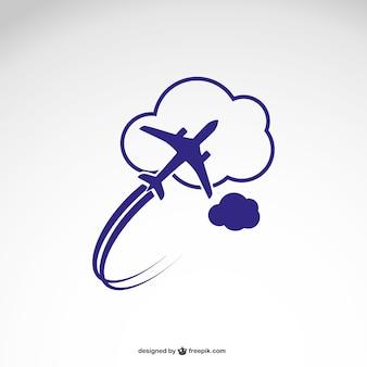 Plantilla de logotipo con avión