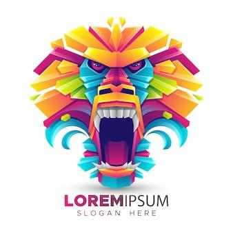 Plantilla de logotipo de babuino