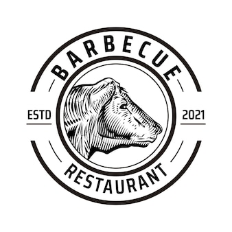 Plantilla de logotipo de barbacoa creativa