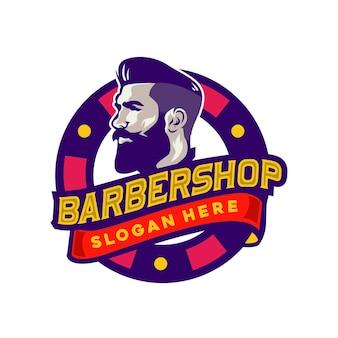 Plantilla de logotipo de barbería