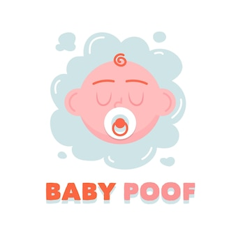 Plantilla de logotipo de bebé detallada