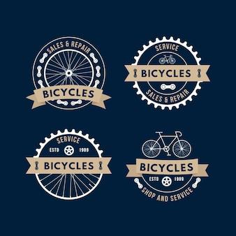 Plantilla de logotipo de bicicleta de mecanismo detallado