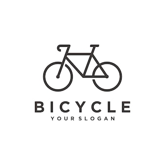 Plantilla de logotipo de bicicleta simple