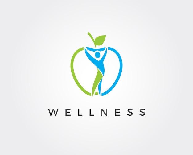 Plantilla de logotipo de bienestar mínimo