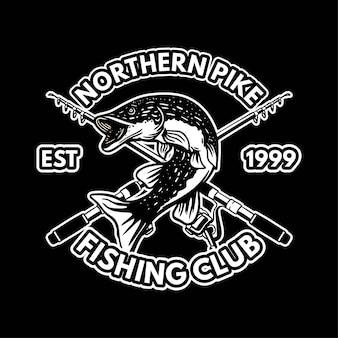 Plantilla de logotipo blanco y negro de lucio del norte