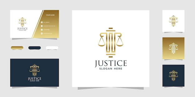 Plantilla de logotipo de bufete de abogados de oro