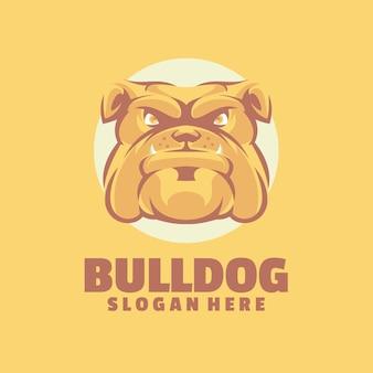 Plantilla de logotipo de bulldog