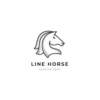 Plantilla de logotipo de caballo