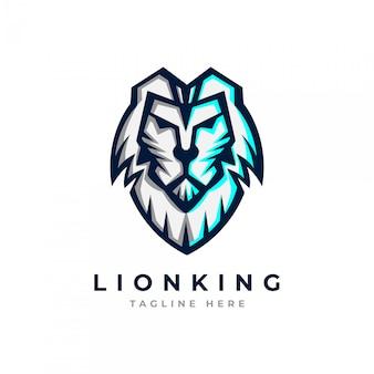 Plantilla de logotipo de cabeza de león.