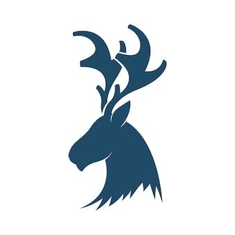 Plantilla de logotipo de cabeza de venado