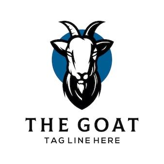 Plantilla de logotipo de cabra