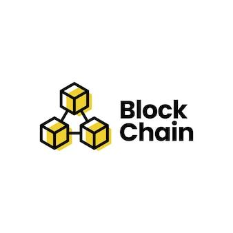 Plantilla de logotipo de cadena de bloques
