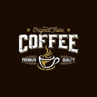 Plantilla de logotipo de cafetería. emblema de café retro.