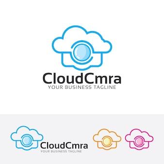 Plantilla de logotipo de cámara en la nube