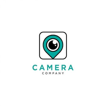 Plantilla de logotipo de cámara