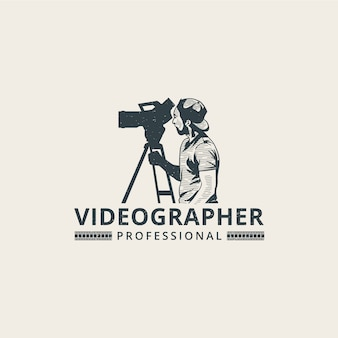 Plantilla de logotipo de camarógrafo