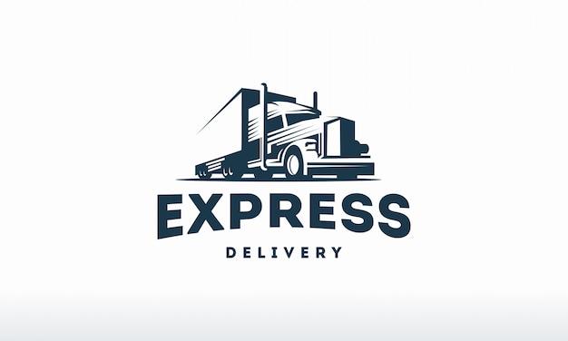Plantilla de logotipo de camión