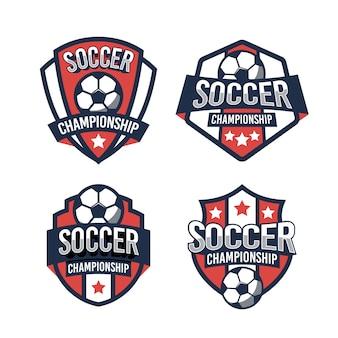 Plantilla de logotipo de campeonato de fútbol
