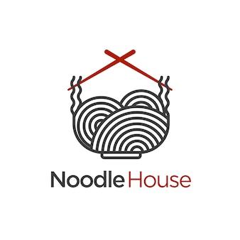 Plantilla de logotipo de la casa de fideos