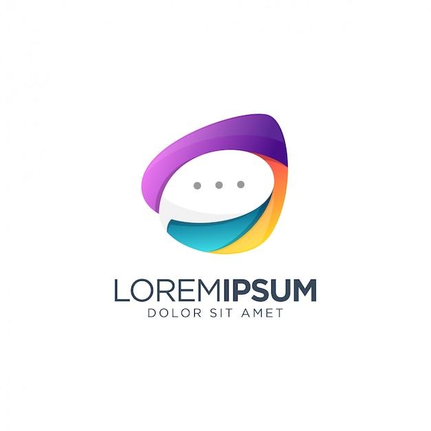 Plantilla de logotipo de chat