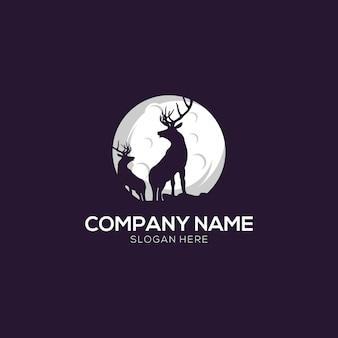 Plantilla de logotipo de ciervo