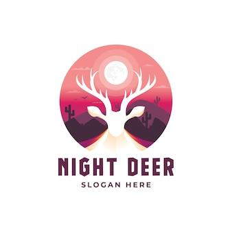 Plantilla de logotipo de ciervos