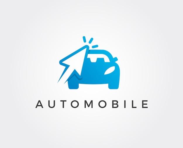 Plantilla de logotipo de coche mínimo