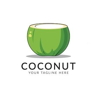Plantilla de logotipo de coco