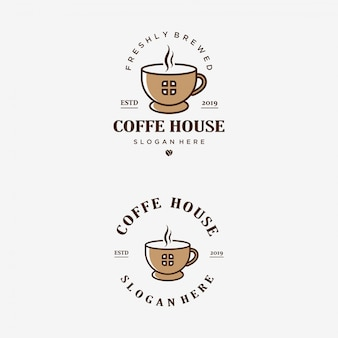 Plantilla de logotipo de coffee house