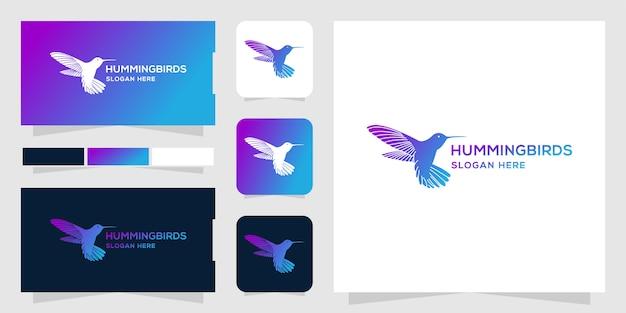 Plantilla del logotipo de colibrí