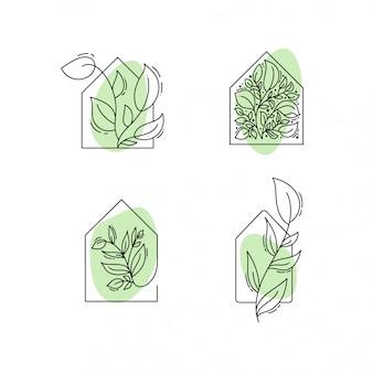 Plantilla de logotipo en color negro y verde