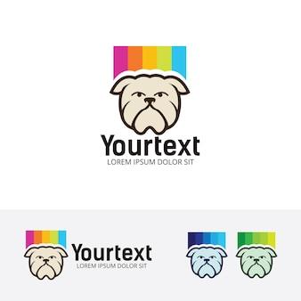 Plantilla de logotipo de color de perro