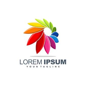 Plantilla de logotipo colorido con forma abstracta