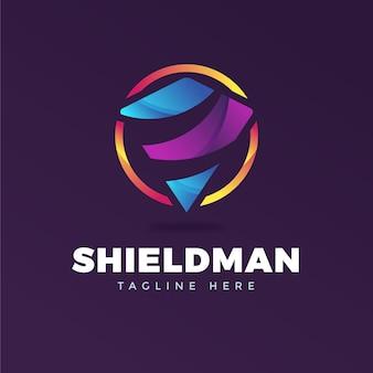 Plantilla de logotipo colorido con lema