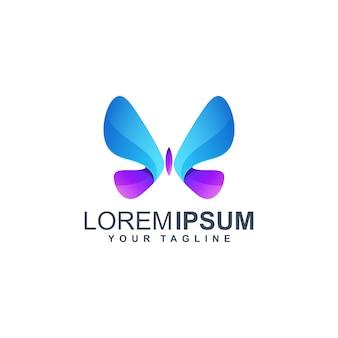 Plantilla de logotipo colorido mariposa