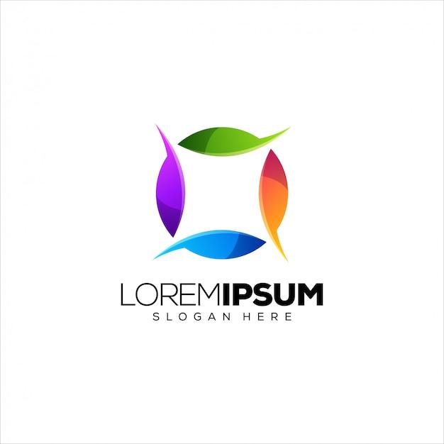 Plantilla de logotipo colorido