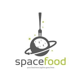 Plantilla de logotipo de comida espacial