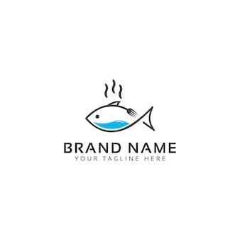 Plantilla de logotipo de comida de mar