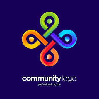 Plantilla de logotipo de la comunidad