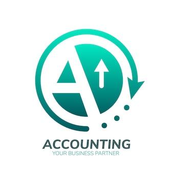 Plantilla de logotipo de contabilidad degradado