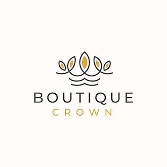 Plantilla de logotipo de corona floral plantilla de logotipo.