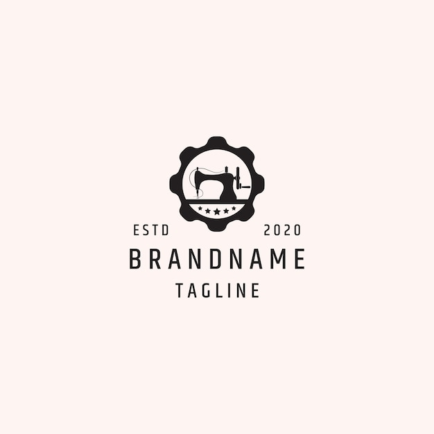 Plantilla de logotipo de costura