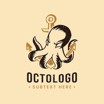 Plantilla de logotipo creativo de pulpo
