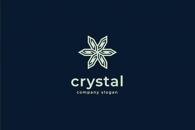 Plantilla de logotipo de cristal